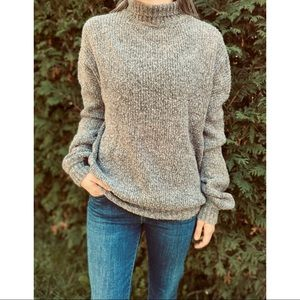 REVOLVE LOVERS+ FRIENDS grey ribbed wool sweater S